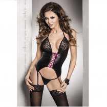Roxy Corset C/Liguero Negro Leather Fusion